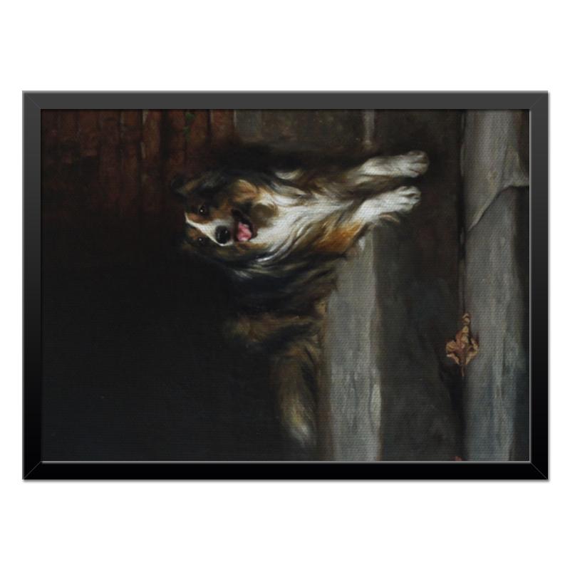 Холст 40x55 Printio 2018 год собаки репродукция ржавый рассвет 500х700мм холст
