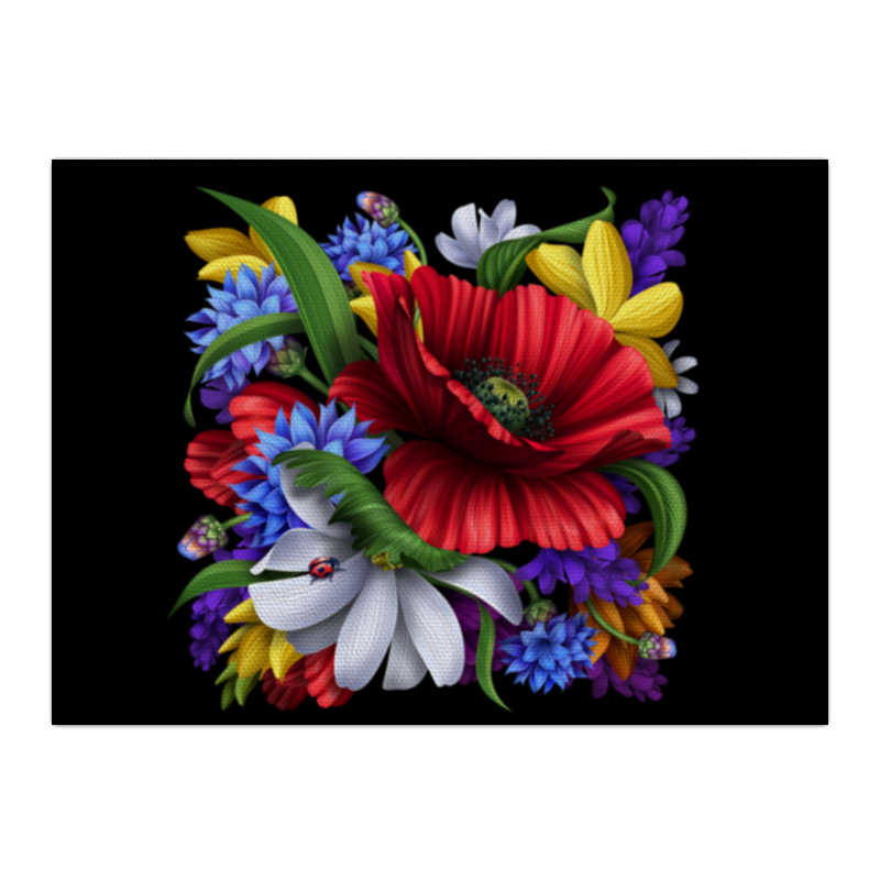 Холст 40x55 Printio Композиция цветов свадебная композиция