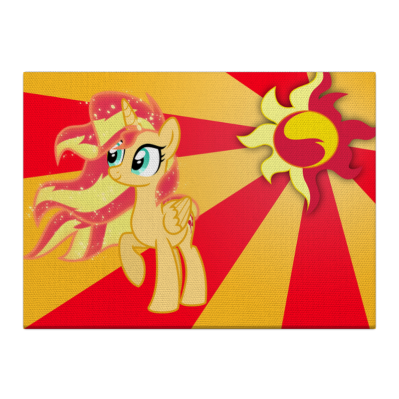 Холст 40x55 Printio Sunset shimmer color line холст 40x55 printio applejack color line