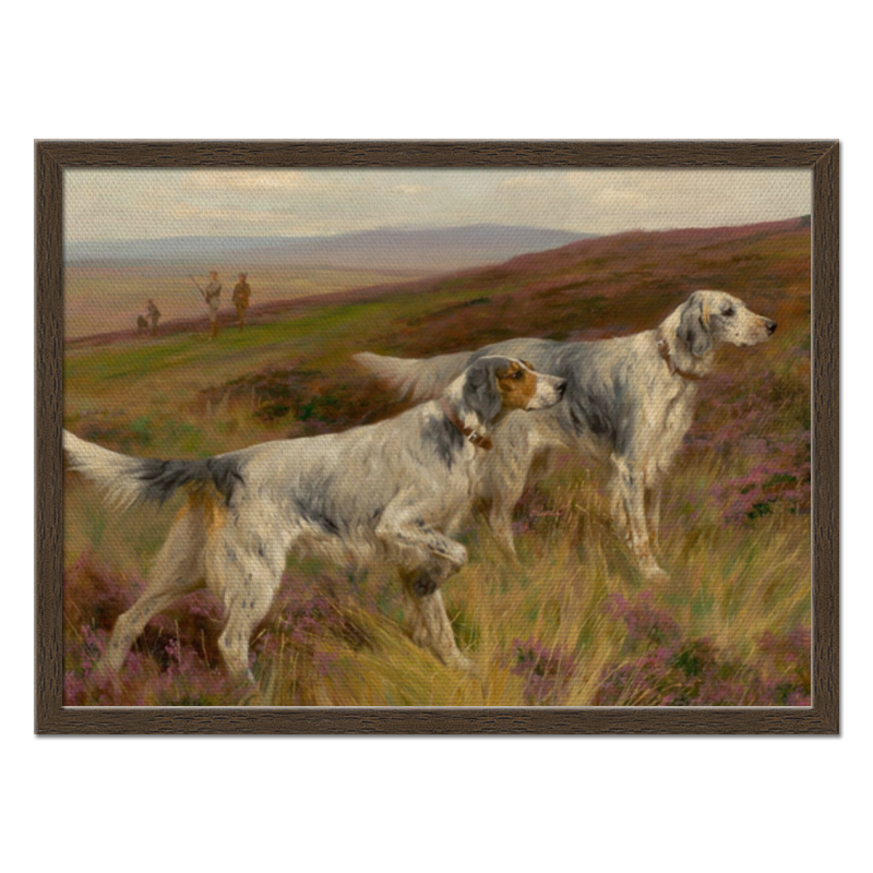 Холст 40x55 Printio Охота с собаками репродукция ржавый рассвет 500х700мм холст