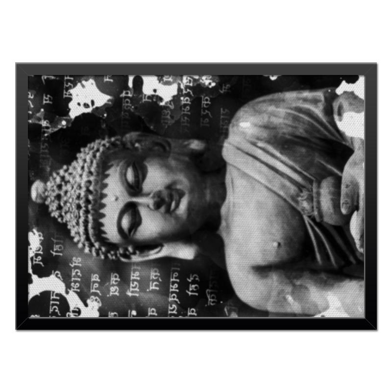 Холст 40x55 Printio Будда (письмена) коробка для футболок printio будда письмена