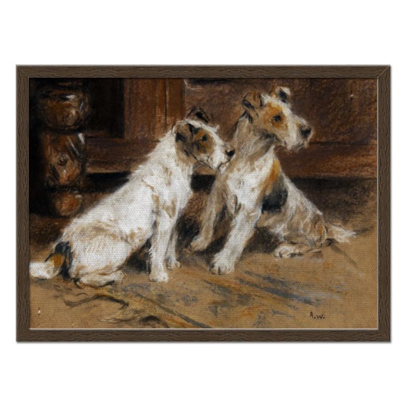 Холст 40x55 Printio 2018 год желтой собаки репродукция ржавый рассвет 500х700мм холст
