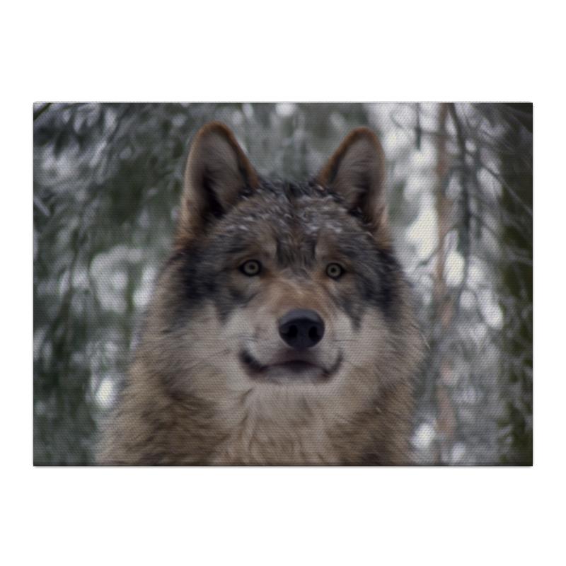 Холст 40x55 Printio Волк в лесу чехол для ноутбука 14 printio волк в лесу