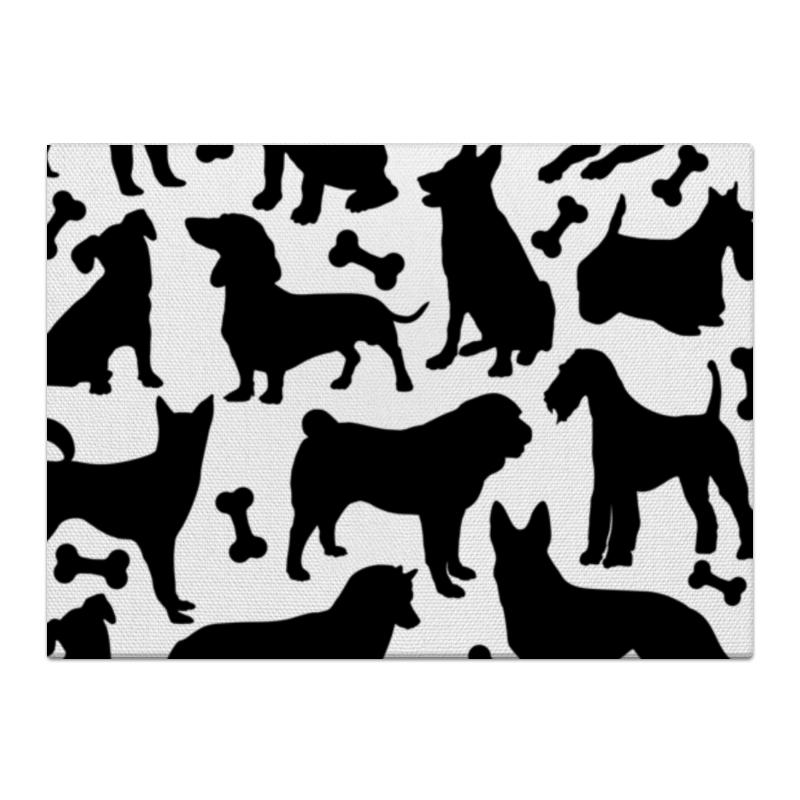 Холст 40x55 Printio Собаки холст 40x55 printio в ожидании 2018 года собаки