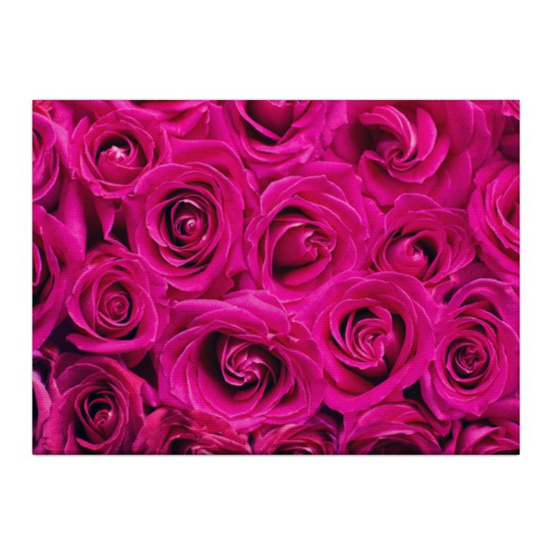 Холст 40x55 Printio Pink roses холст 40x55 printio эйфелева башня