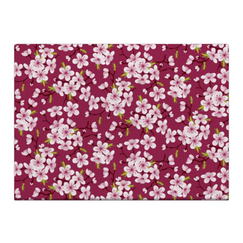 Холст 40x55 Printio Цветущая вишня вишня замороженная без косточки в донецке