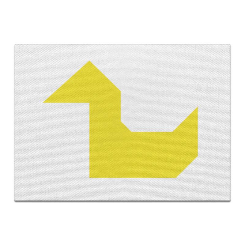 Фото - Printio Жёлтая утка танграм холст 60x90 printio жёлтая собака танграм