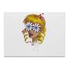 """Холст 40x55 """"Без ума от цветов"""" - любовь, девушка, цветы, сердца, блондинка"""