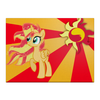 "Холст 40x55 ""Sunset Shimmer Color Line"" - sun, cutiemark, sunset shimmer"