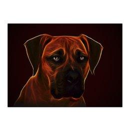 "Холст 40x55 ""Бульмастиф"" - собака, мастиф, бульмастиф, bullmastiff"