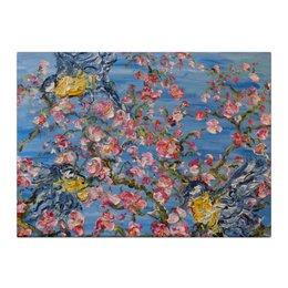 "Холст 40x55 ""Весна"" - любовь, весна, красота, небо, цветочки, сакура, sakura"