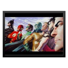"Холст 40x55 ""Justice League/Лига Справедливости"" - comics, комиксы, batman, justice league, лига справедливости"