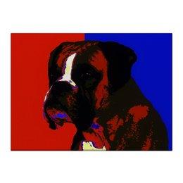"Холст 40x55 ""Боксер"" - собаки, boxer, боксер"