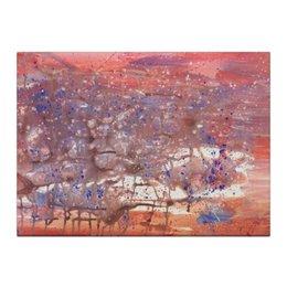 """Холст 40x55 """"Фламинго"""" - арт, картина, pink, абстракция, пастель, фламинго, flamingo, современное искусство"""