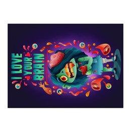 "Холст 40x55 ""Милашка зомби"" - любовь, арт, zombie, зомби, девочка"