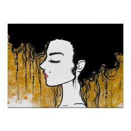 """Холст 40x55 """"Golden"""" - любовь, девушка, золотой, климт"""
