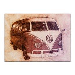 "Холст 40x55 ""I Love VW"" - ретро, car, vintage, vw, путеществие"