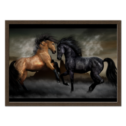 """Холст 40x55 """"Холст """"скакуны"""""""" - животные, лошадь"""