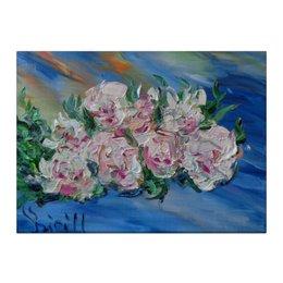 "Холст 40x55 ""Пионы"" - весна, красота, цветочки, пионы, май"