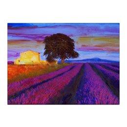 """Холст 40x55 """"Лавандовые поля"""" - коллаж, купить картину на холсте, оригинальные подарки, необычный подарок, картина в интерьер"""