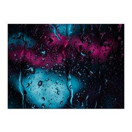 """Холст 40x55 """"Дождь"""" - лето, город, дождь, иной, огни ночного города"""