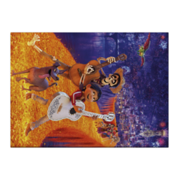 """Холст 40x55 """"Тайна Коко"""" - музыка, мультфильм, дисней, приключения, тайна коко"""