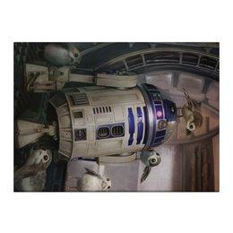"Холст 40x55 ""Звездные войны - R2-D2"" - звездные войны, фантастика, кино, дарт вейдер, star wars"