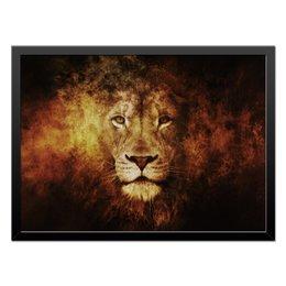 "Холст 40x55 ""Лев - хищник"" - хищник, лев, царь зверей"