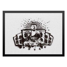 """Холст 40x55 """"Будда (Акустика)"""" - музыка, волны, будда, буддизм, акустика"""