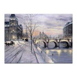 "Холст 40x55 ""Париж   "" - зима, город, снег, париж, paris, картина париж"
