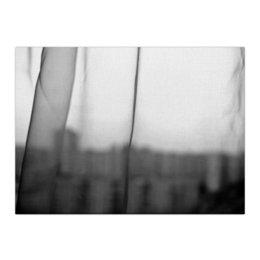 """Холст 40x55 """"Город"""" - печаль, один, окно, тоска"""