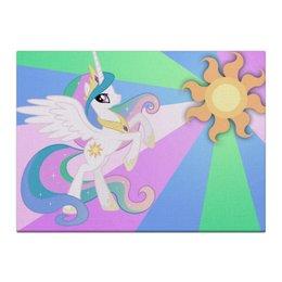 "Холст 40x55 ""Princess Celestia Color Line"" - magic, celestia, friendship, princess"