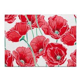 """Холст 40x55 """"Красные маки"""" - цветы, ярко, природа, маки, красивые цветы"""