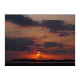 """Холст 40x55 """"ZAKAT"""" - небо, природа, закат"""