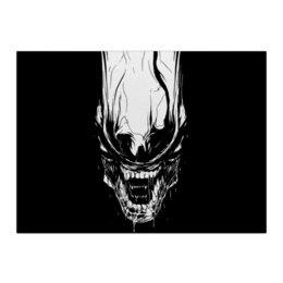 """Холст 40x55 """"Xenoblack"""" - стиль, alien, movie, alienmovie, ellenripley"""