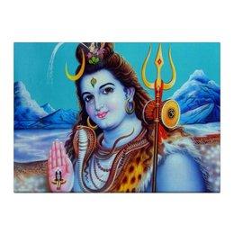 """Холст 40x55 """"Shiva (Шива)"""" - шива, господь шива, бог шива, shiva, mahadev"""