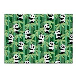 "Холст 40x55 ""Жизнь панд"" - узор, животные, панда, лес, бамбук"