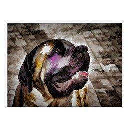 """Холст 40x55 """"Мастиф"""" - собака, живая природа, мастиф, английский мастиф, mastif"""