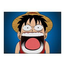 "Холст 40x55 ""Луффи - Чё??!!"" - аниме, шляпа, one piece, луффи, монки ди луффи"