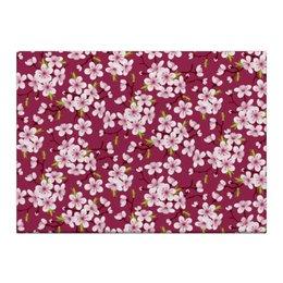 """Холст 40x55 """"Цветущая вишня"""" - красиво, природа, цветочки, цветущая вишня, красивые цветы"""