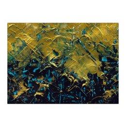 "Холст 40x55 ""Abstract"" - картина, разводы, абстракция, живопись, флюид"