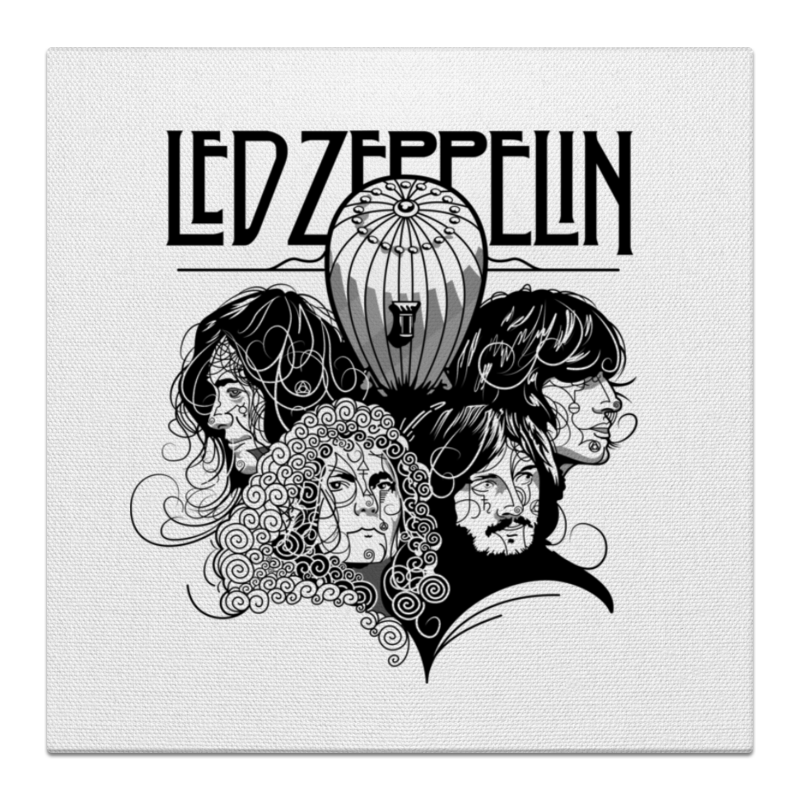 Холст 50x50 Printio Led zeppelin cd led zeppelin ii deluxe edition