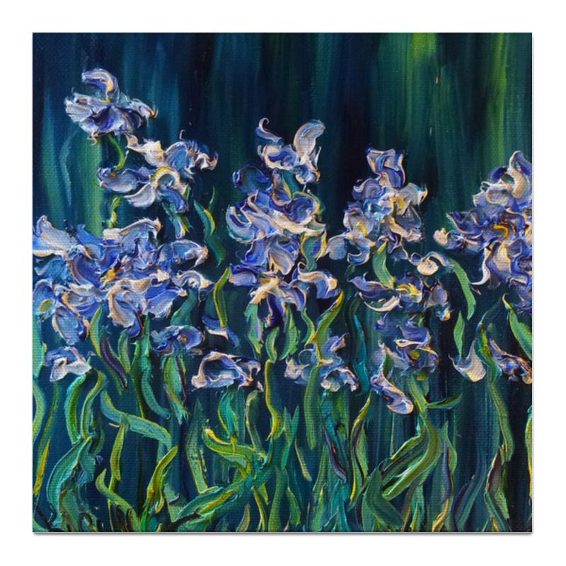 Холст 50x50 Printio Синие ирисы цены