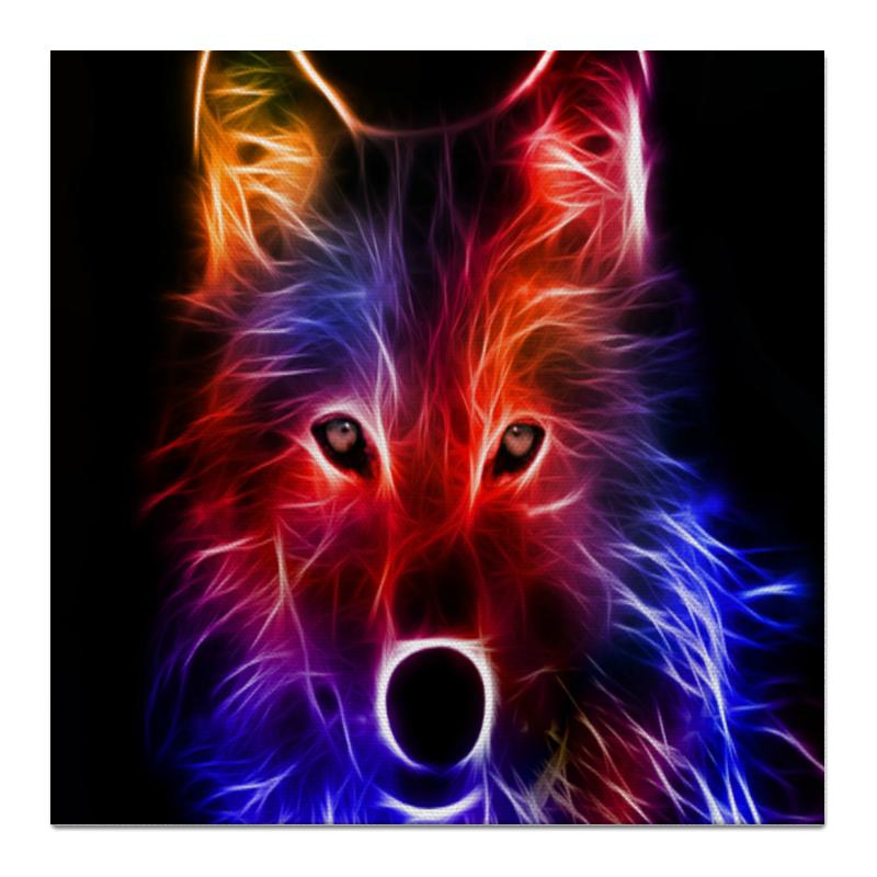 Холст 50x50 Printio Волк хищник статуэтка волк 1052716