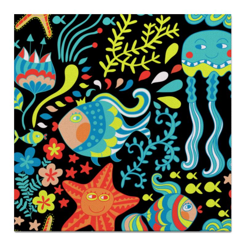 Printio Обитатели моря холст 50x50 printio мак