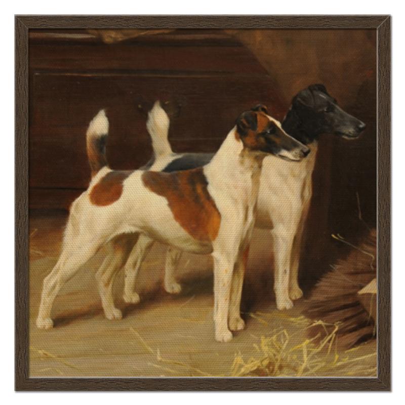 Холст 50x50 Printio 2018 год желтой собаки