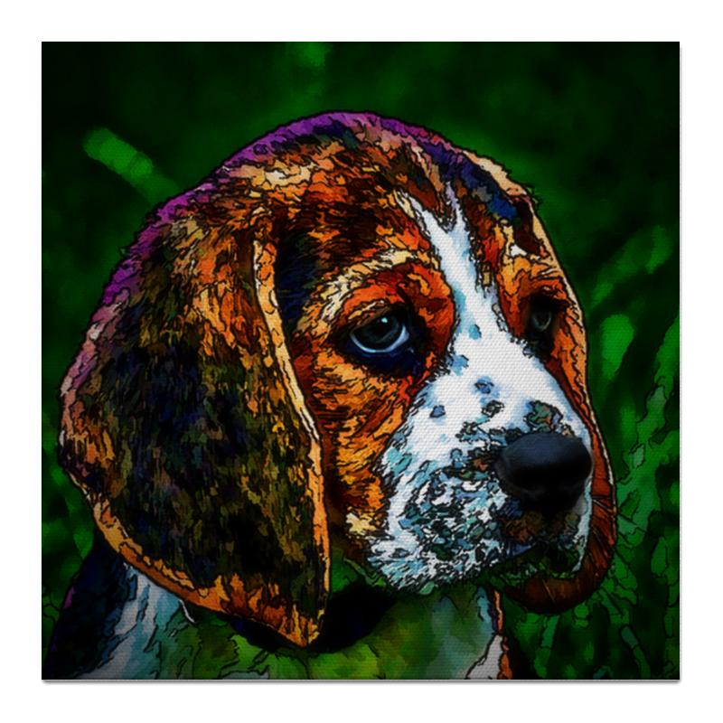 Холст 50x50 Printio Бигль как купить собаку в новосибирске породы ризеншнауцер без документов