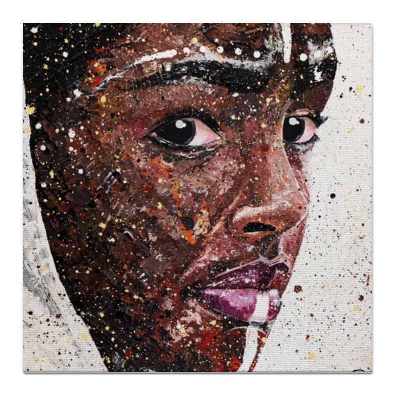 Холст 50x50 Printio Эфиопка. картина 50 на 50 см. серова м вся прелесть стриптиза