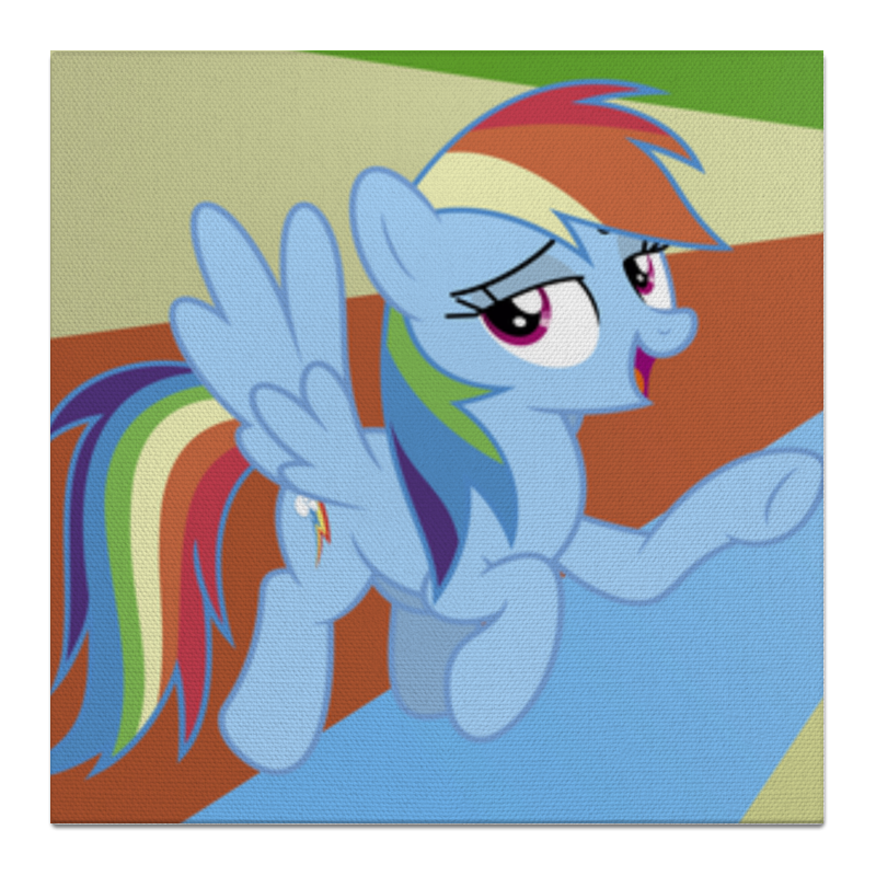 Холст 50x50 Printio Rainbow dash color line холст 50x50 printio fluttershy color line