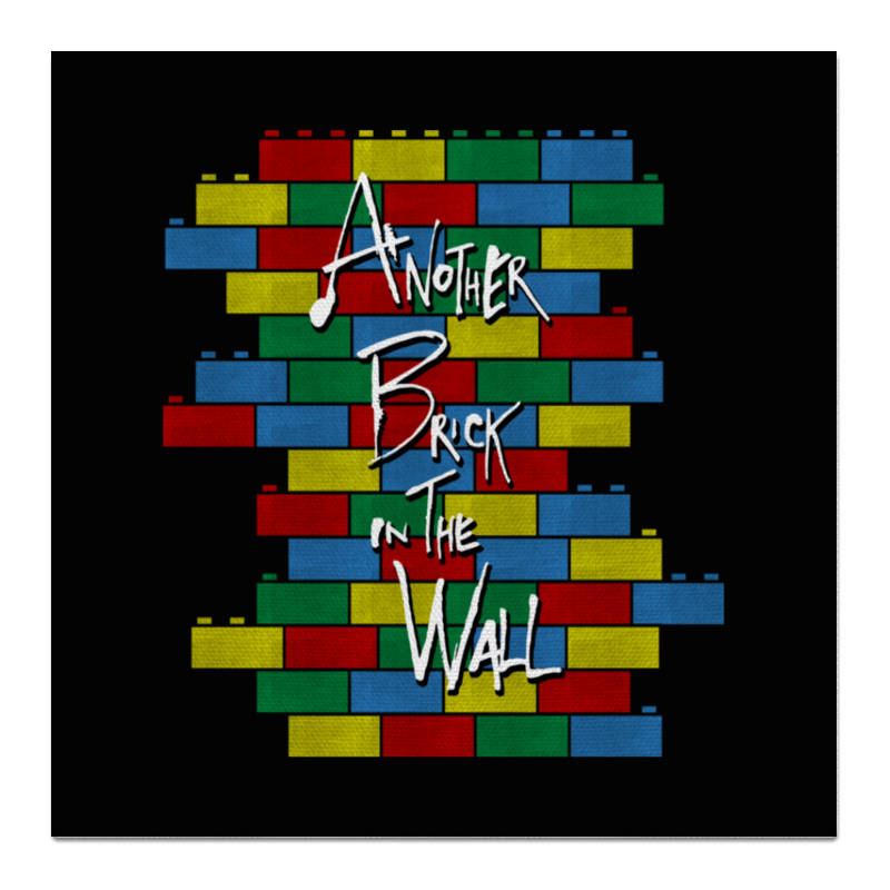Холст 50x50 Printio Another brick in the wall шарф insight flip the switch scarf brick
